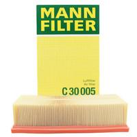 曼牌(MANNFILTER)空氣濾清器/空氣濾芯/空濾C30005(途觀L/邁騰/高爾夫7/凌渡/途安L/速派/柯迪亞克/A3/TT)