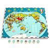 TOP BRIGHT 特宝儿 世界地图木质拼图儿童玩具