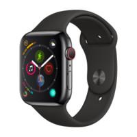 Apple 苹果 Apple Watch Series 4苹果智能手表(深空灰铝金属、GPS+蜂窝、44mm、黑色运动型表带)