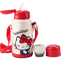 乐扣乐扣(LOCK&LOCK)HELLO KITTY双盖儿童保温杯吸管水杯学生保冷杯550ml HKT392IVY