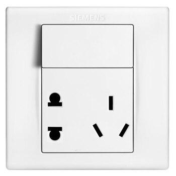 西门子(SIEMENS)开关插座 品宜系列 10A五孔带开关面板5UB06193NC01