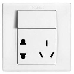西门子(SIEMENS)开关插座 品宜系列 10A五孔带开关面板5UB06193NC01 *15件