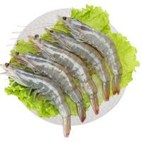 PLUS会员:Seamix 禧美海产 禧美 厄瓜多尔白虾 1kg/盒(特大号) 30-40只*2件 + 仁豪水产 国产白虾 冷冻大虾 净重500g 25-30只/盒