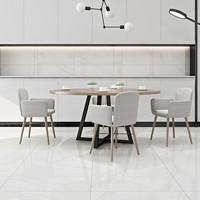 诺贝尔瓷砖全抛釉现代简约客厅地板砖背景墙800x800 80701雅士白