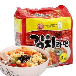 韩国进口 不倒翁奥多吉 方便面拉面 泡菜拉面 泡面 600g(120g*5包入)