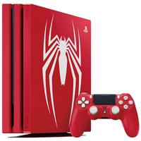 SONY 索尼 PlayStation 4 Pro 漫威蜘蛛侠限量珍藏版 国行版游戏机 1TB 红色