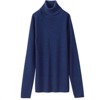 MUJI 无印良品 W8AA870 女士无刺痛感高领羊毛毛衣