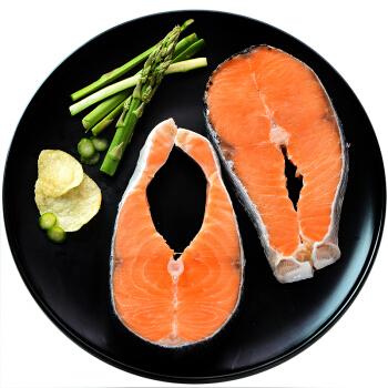 美加佳 冷冻智利筒切三文鱼排 大西洋鲑 420g