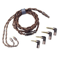 DUNU 达音科 磐 3.5mm单端平衡单晶铜耳机 通用标准mmcx (1.8米)