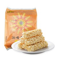 米老头 粗粮膨化零食特产  满嘴香米通350 花生味