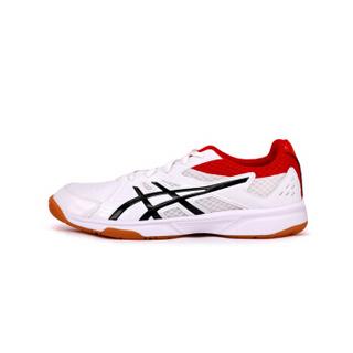 ASICS 亚瑟士 19新款男女羽毛球鞋COURT BREAK缓震耐磨防滑运动鞋1071A003-110 白黑红 45