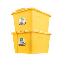 茶花 68L收纳箱整理箱大容量 68升百纳箱 2只装