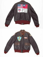 The Few A-2 Flight Jacket Monarch Mix Leather