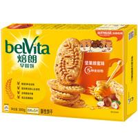 焙朗 早餐饼 谷物饼干坚果蜂蜜味 300g(新老包装随机发货)