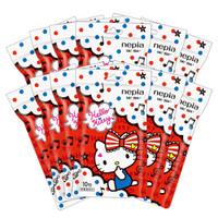 妮飘(Nepia)湿纸巾卡通系列hello kitty凯蒂10抽/包*12包