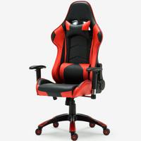 伯力斯 电脑椅 电竞椅炫酷LOL 游戏竞技椅红黑色MD-076