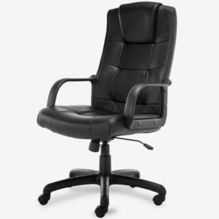 博泰(BJTJ) 电脑椅子 办公椅 家用转椅 黑色皮椅BT-9753H
