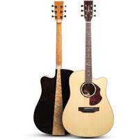 拉维斯(Nightwish)单板吉他进阶民谣木吉它jita乐器 N-800DC plus 41寸单板缺角亮光