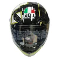 AGV 头盔 K3 TOP 四季通用 广角通风透气全盔跑盔 意大利机车赛车骑行头盔 歌德黑 GOTHIC 46 BLACK M