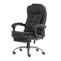 奈高电脑椅老板椅午休椅办公椅职员椅可躺升降座椅人体工学椅-黑色