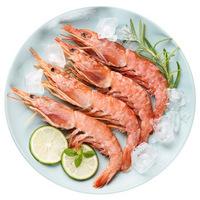 美加佳 冷冻阿根廷红虾(去肠线) 300g 袋装 烧烤食材 自营海鲜水产