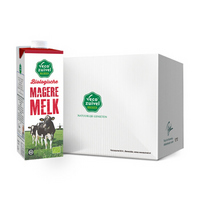 欧盟有机认证 荷兰进口 乐荷(vecozuivel)脱脂有机纯牛奶 1L*12盒家庭装 *2件