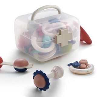 PLUS会员 : babycare  婴儿手摇铃玩具可咬10件(送收纳盒)
