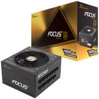 海韵 (SEASONIC) FOCUS PLUS 1000W GOLD 1000FX(80PLUS金牌全模/十年质保/标准14cm/静音/风扇启停模式)