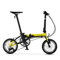 大行(DAHON) 折叠自行车 新品K3迷你14寸超轻小轮都市通勤折叠单车KAA433 黑黄色