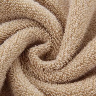 九洲鹿 浴巾家居 加大加厚棉浴巾吸水巾柔软亲肤 全棉素色断档浴巾 咖色 70*135cm