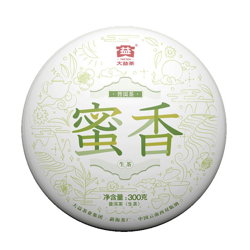 TAETEA 大益普洱茶 生茶 蜜香青饼 300g/饼