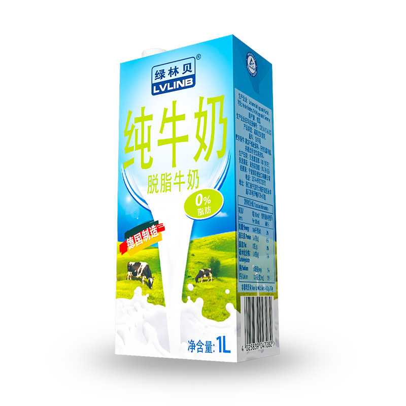 LVLINB 绿林贝 脱脂牛奶 1L*12盒