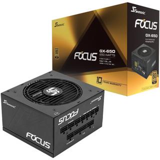 SEASONIC 海韵 FOCUS GX650 额定650W 电源(80PLUS金牌/全模组/十年质保)