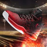 乔丹 男鞋篮球鞋实战减震运动耐磨篮球鞋 XM1580103 新乔丹红/黑色 42