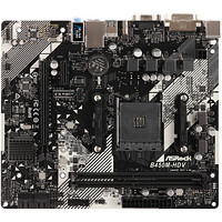 华擎(ASRock)B450M-HDV R4.0主板(AMD B450/AM4 Socket)