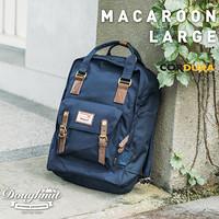 Doughnut MacaroonMini甜甜圈双肩包迷你轻便女帆布小包旅行背包 深蓝色