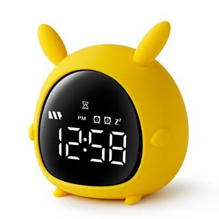 码仕 闹钟静音智能学生创意卡通儿童小闹钟倒计时贪睡可充电生日礼物礼盒 小精灵闪电兔