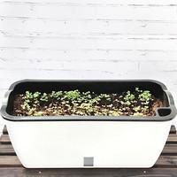 奥美优 种菜盆 长方形 塑料双层大花盆 加厚长条盆 阳台室内花卉绿植蔬菜种植盆 LZ7125