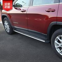 華飾 吉普自由光側踏板 車門腳踏板 迎賓踏板 Jeep自由光改裝專用 側踏板-不銹鋼款現做