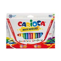 意大利进口CARIOCA双重魔法绘画水彩笔套装18色+2支变色笔  儿童玩具文具画笔diy