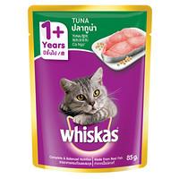 伟嘉 宠物猫粮猫湿粮 泰国进口成猫妙鲜包猫罐头 吞拿鱼味85g单袋装