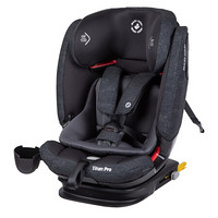 maxi cosi迈可适汽车儿童安全座椅9个月-12岁AirProtect专利防撞气垫ISOFIX接口(游牧黑)Titan Pro睿智小巨人