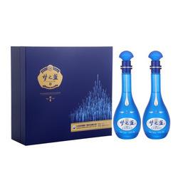 洋河(YangHe) 蓝色经典 梦之蓝M6 45度 500ml*2 礼盒装 浓香型白酒 口感绵柔