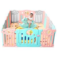 AOLE-HW 澳乐 儿童婴儿游戏围栏 14片+ 门栏+ 趣味栏