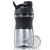 Blender Bottle 摇摇杯运动水杯健身水壶蛋白粉杯子Tritan材质带刻度搅拌球 黑色约600ml