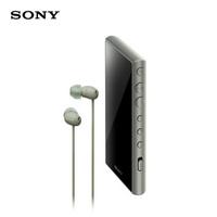 索尼(SONY)NW-A105HN 无线Hi-Res 安卓9.0 高解析度 无损音乐播放器 MP3(附带降噪耳机)灰绿色