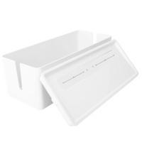 deli 得力 8906 桌面理线盒 白色