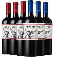 MONTES 蒙特斯 红葡萄酒智利 750ml*6支