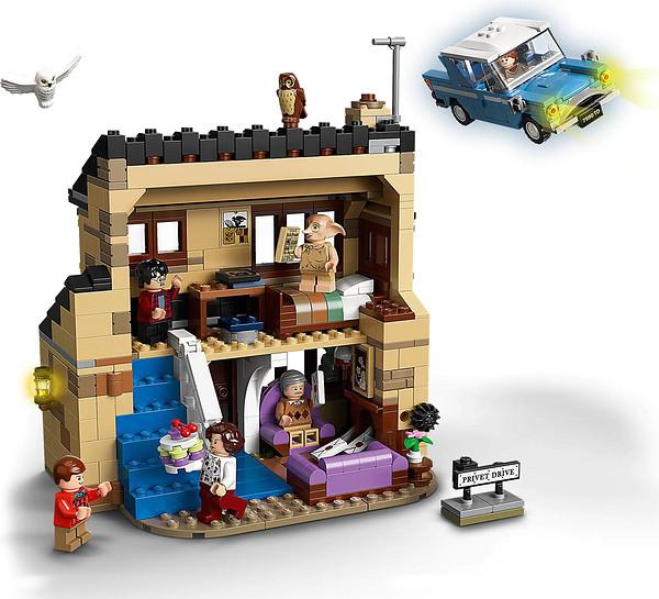 LEGO 乐高 哈利波特系列 75968 女贞路4号和飞行汽车