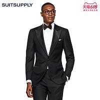 Suitsupply-Lazio黑色羊毛平纹商务男士礼服西装上衣